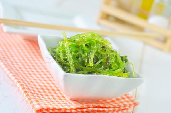 ストックフォト: サラダ · 食品 · 背景 · 緑 · レモン · アジア