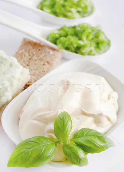 Mayonez ışık mutfak yeşil pişirme sarı Stok fotoğraf © tycoon