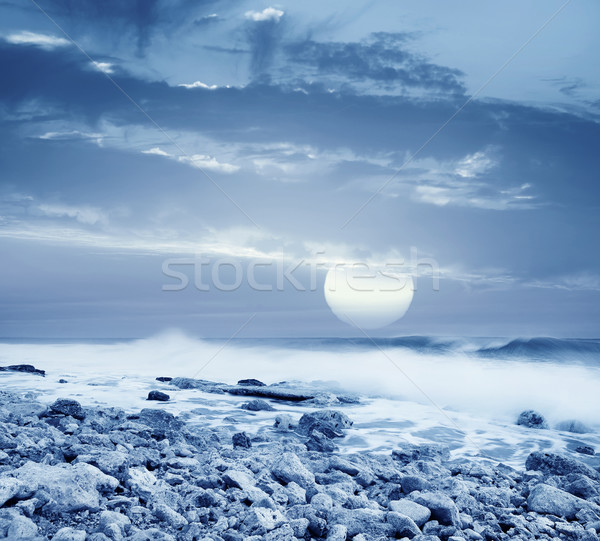 Deniz su doku soyut manzara okyanus Stok fotoğraf © tycoon