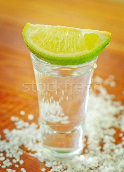 Tequila bois fond vert cool alcool Photo stock © tycoon