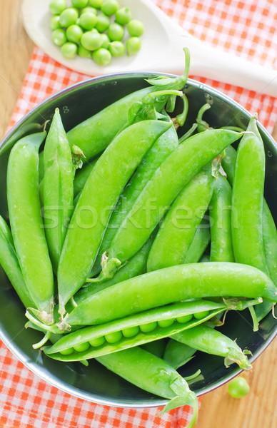 Verde ervilhas comida bola planta fresco Foto stock © tycoon