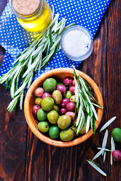 green olives Stock photo © tycoon