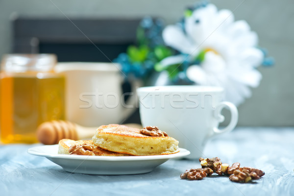 pancakes with nuts Stock photo © tycoon