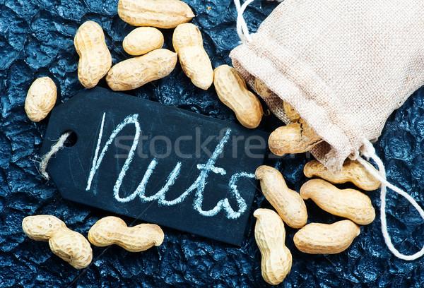 Asciugare arachidi nero legno salute tavola Foto d'archivio © tycoon
