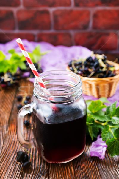 Succo nero ribes vetro vegetali fresche Foto d'archivio © tycoon