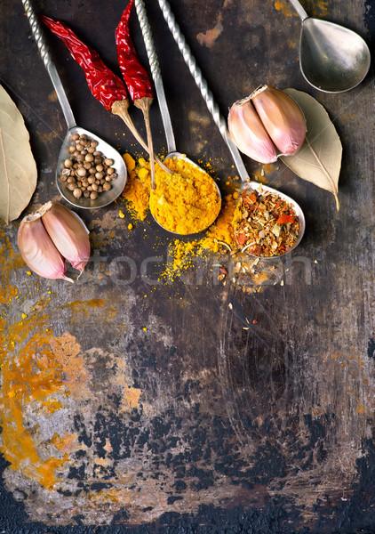 味 香料 表 紅色 顏色 商業照片 © tycoon