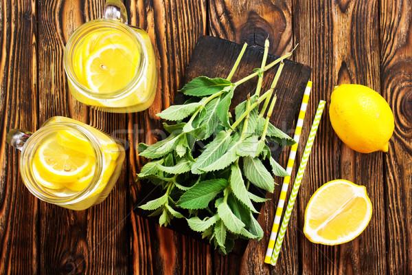 レモネード 新鮮な ミント 表 水 葉 ストックフォト © tycoon