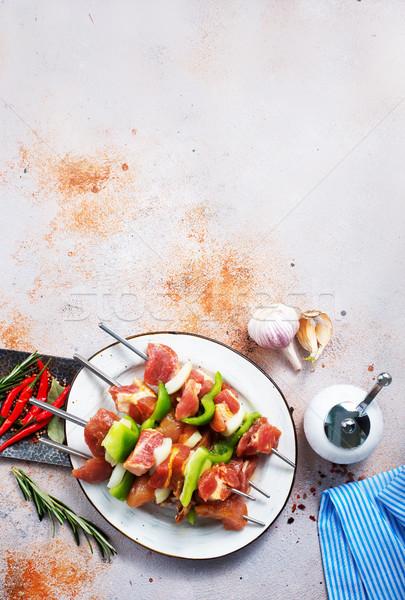 Quibe prato tabela fundo cozinha Foto stock © tycoon