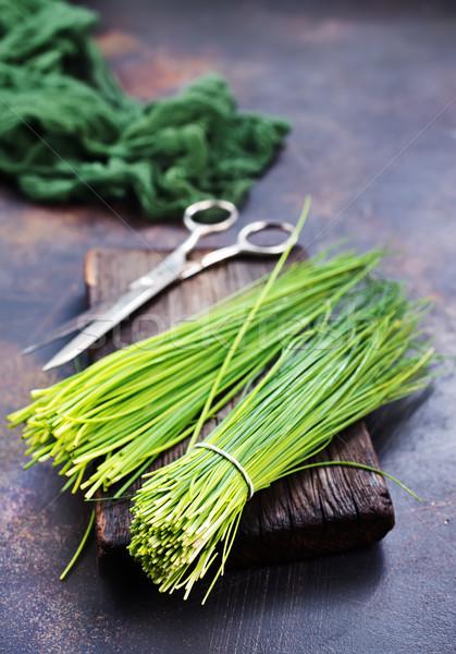 зеленый лук совета таблице текстуры продовольствие здоровья Сток-фото © tycoon