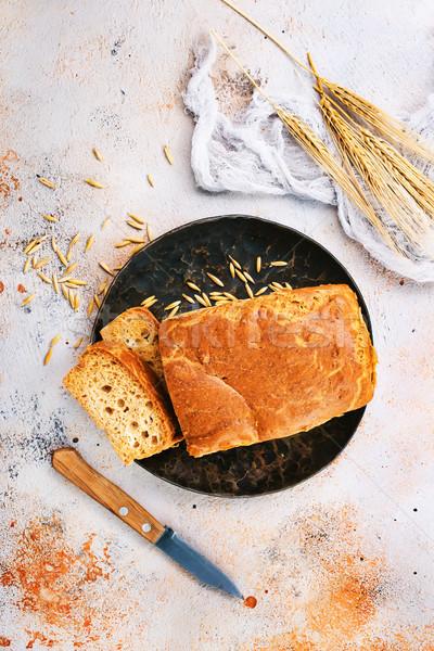 Fraîches pain noir plaque table santé Photo stock © tycoon