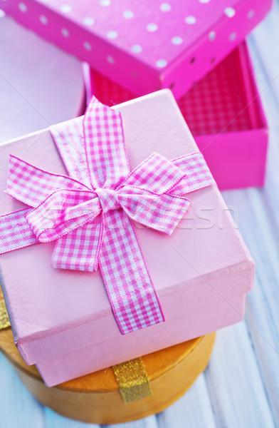 Cajas presente papel feliz diseno compras Foto stock © tycoon