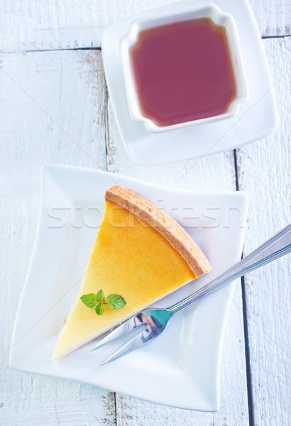 Cheesecake dolce piatto alimentare frutta Foto d'archivio © tycoon