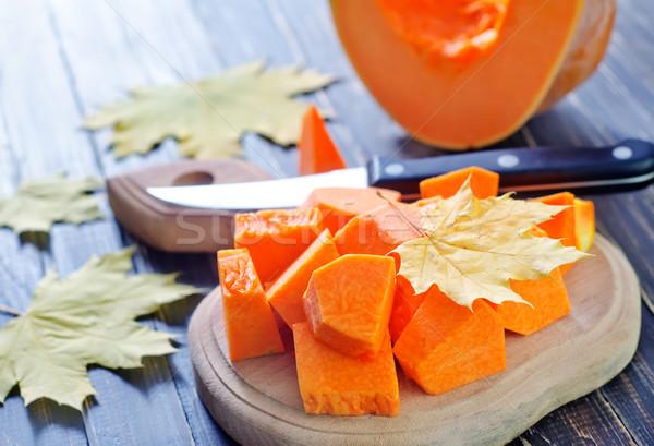 Pompoen voedsel oranje vallen landbouw plantaardige Stockfoto © tycoon