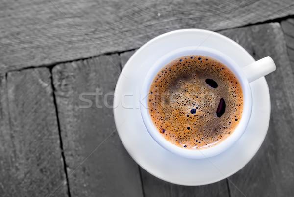 Café comida relaxar energia escuro copo Foto stock © tycoon