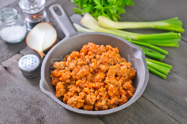 minced meat with tomato sauce Stock photo © tycoon