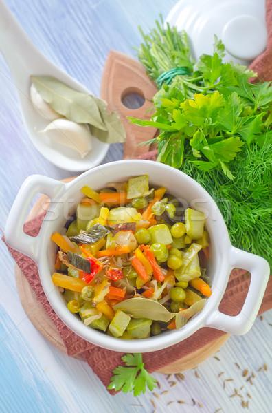 Verdura alimentare legno verde cena Foto d'archivio © tycoon