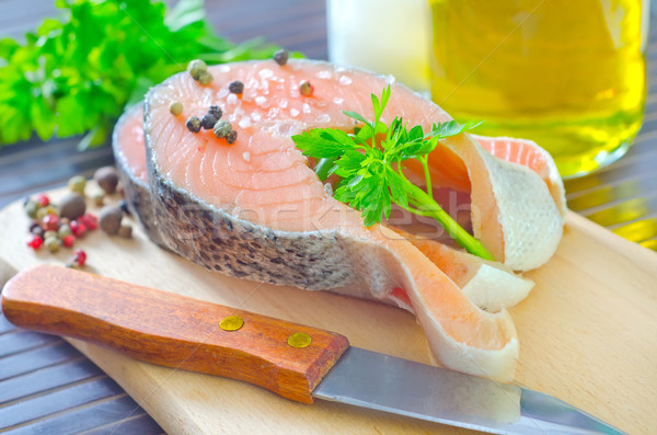 Somon gıda sağlık arka plan akşam yemeği kırmızı Stok fotoğraf © tycoon