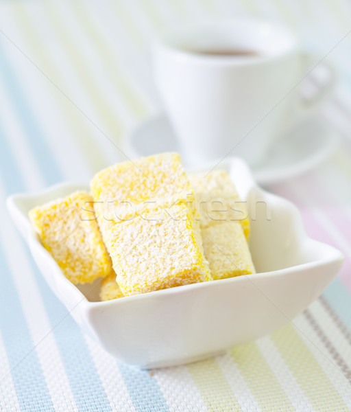 Prazer jantar cor copo branco sobremesa Foto stock © tycoon