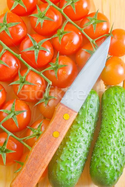 Cetriolo pomodoro frutta gruppo rosso vita Foto d'archivio © tycoon