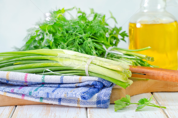onion and other greens Stock photo © tycoon