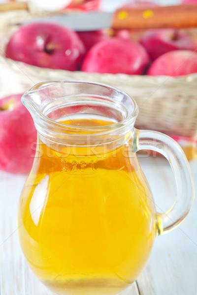 リンゴジュース フルーツ ガラス 夏 緑 赤 ストックフォト © tycoon