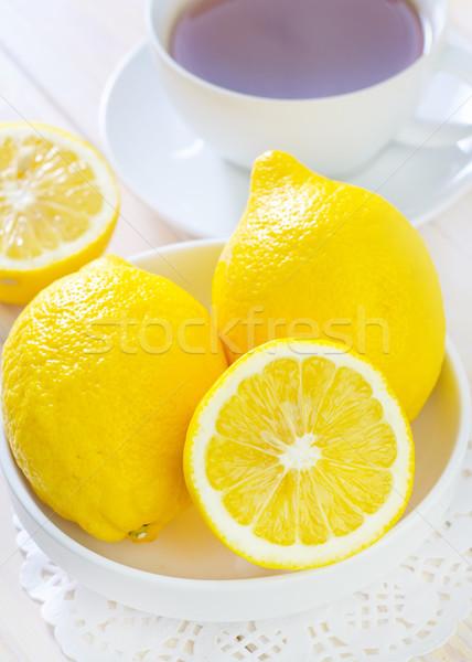 lemons and tea Stock photo © tycoon