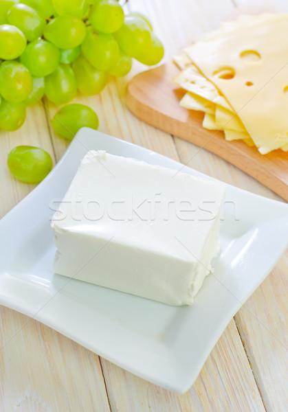 Blanco queso verde ensalada cocina almuerzo Foto stock © tycoon