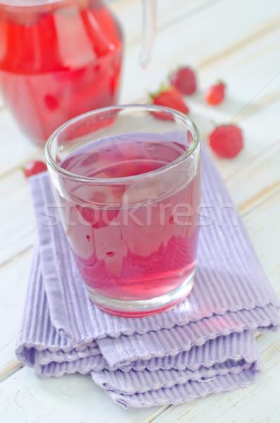 strawberry juice Stock photo © tycoon