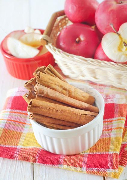 cinnamon and apples Stock photo © tycoon