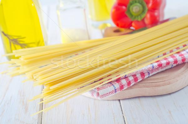 Spaghetti alimentare cucina ristorante tavola occhiali Foto d'archivio © tycoon