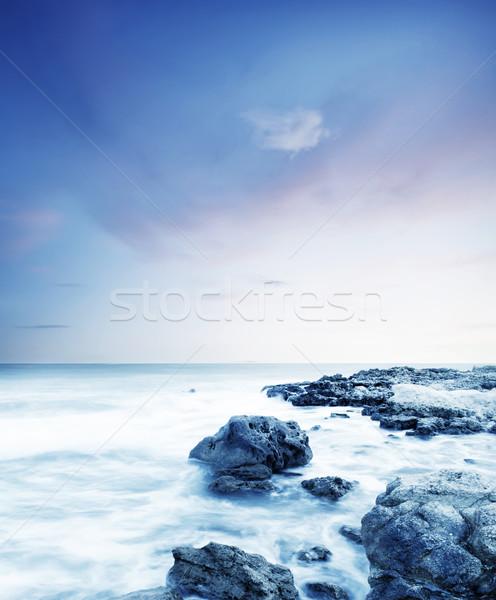 Deniz manzarası plaj manzara ışık deniz güzellik Stok fotoğraf © tycoon