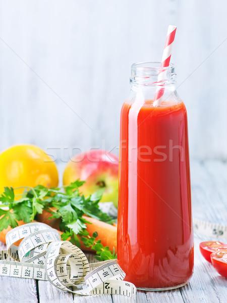 Meyve suyu meyve sebze şişe elma cam Stok fotoğraf © tycoon