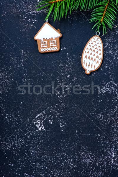 Noel dekorasyon tablo ahşap soyut arka plan Stok fotoğraf © tycoon