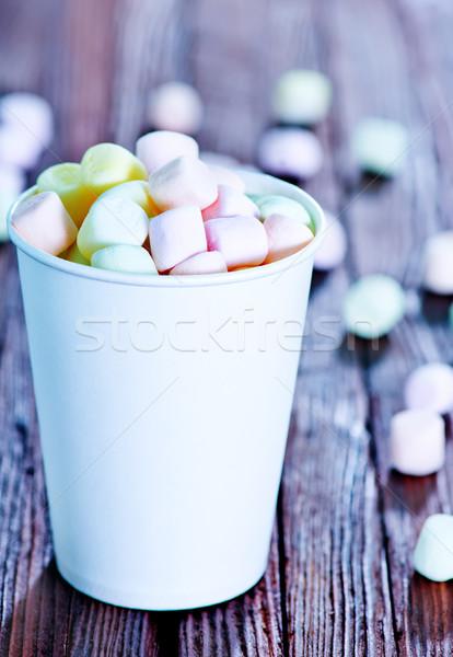 Guimauve papier tasse table alimentaire lumière Photo stock © tycoon