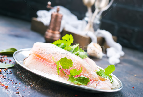 raw fish fillet  Stock photo © tycoon