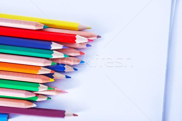древесины школы краской карандашом фон Сток-фото © tycoon