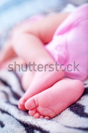Bose stopy baby stóp stóp dziewczynka dziecko Zdjęcia stock © tycoon
