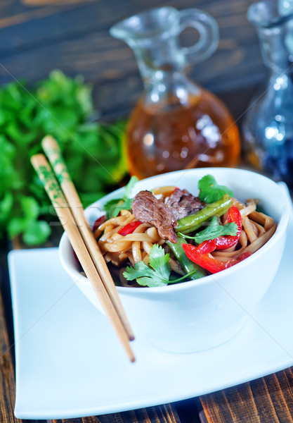 noodles with meat Stock photo © tycoon