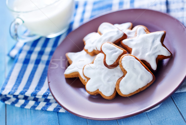 Cookies sweet plaque table alimentaire fond Photo stock © tycoon
