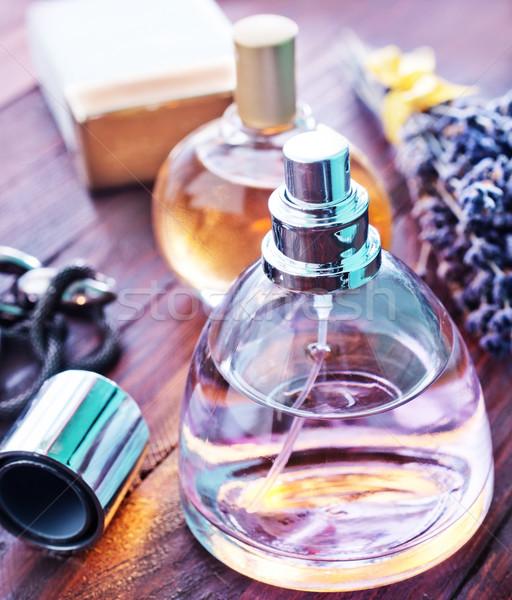 Parfüm kadın vücut cam şişe kadın Stok fotoğraf © tycoon