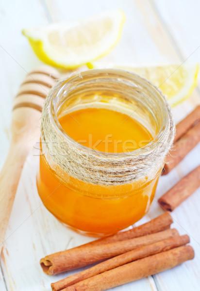 Citroen vruchten oranje dessert kok honing Stockfoto © tycoon