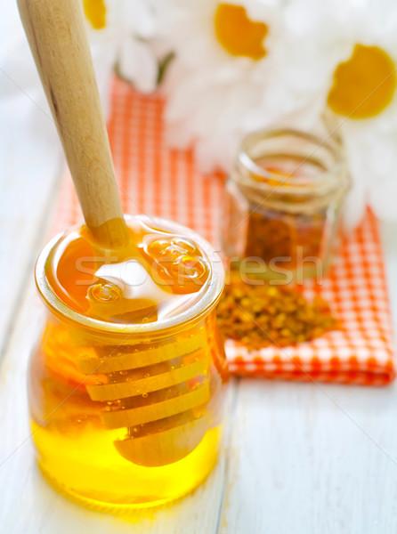 Virágpor méz orvosi doboz élet arany Stock fotó © tycoon