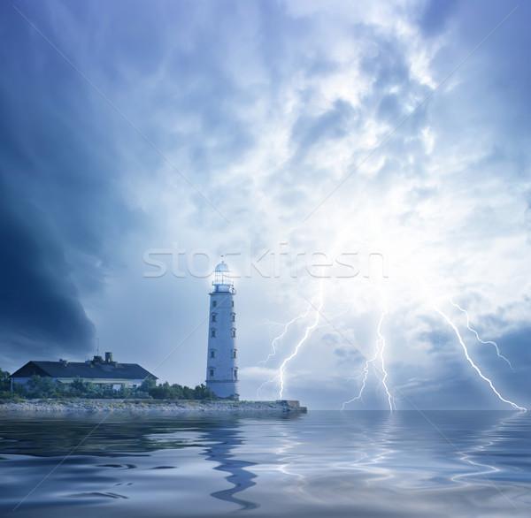 Photo stock: Plage · ciel · soleil · lumière · mer · océan