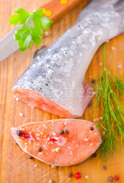 Foto stock: Salmão · comida · peixe · mar · restaurante