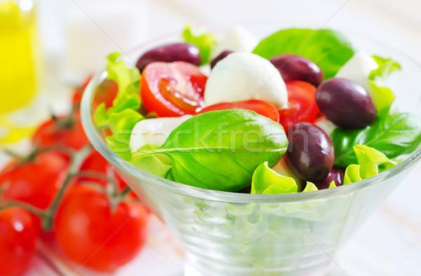 Капрезе стекла зеленый сыра нефть красный Сток-фото © tycoon