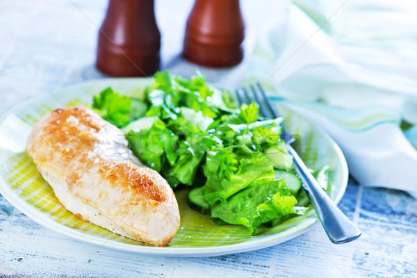 鶏の胸肉 サラダ プレート 表 キッチン 夏 ストックフォト © tycoon