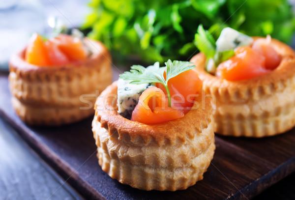 tartalets with fish Stock photo © tycoon