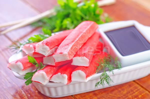 краба вечеринка рыбы красный парка азиатских Сток-фото © tycoon