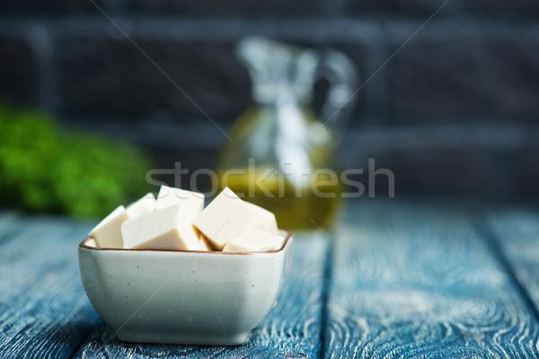 Tofu queijo prato tabela grama asiático Foto stock © tycoon