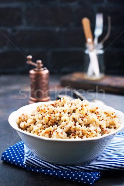 Főtt fehér tál stock fotó étel Stock fotó © tycoon